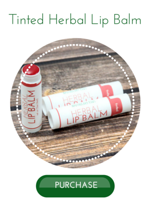 Tinted herbal lip balm