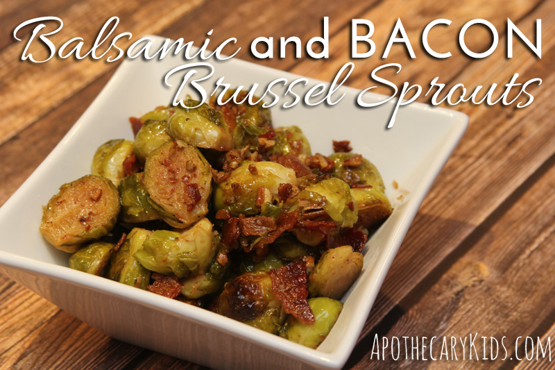 Balsamic and bacon brussel sprouts